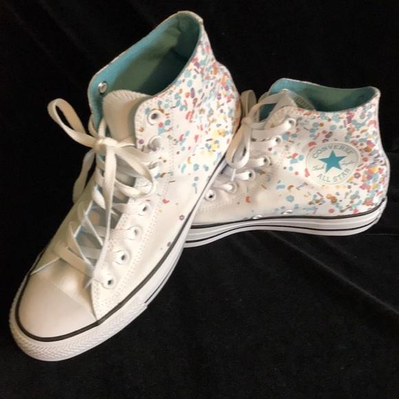 Converse high tops chuck Taylor confetti design 5c07adf71cfc